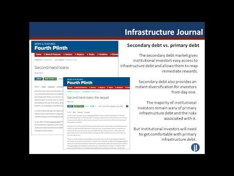 IJ Online Seminar: Infrastructure Debt - How can institutional investors access this asset class?
