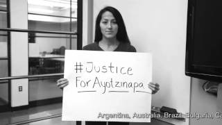 THE WORLD IS WATCHING: students from 43 countries in solidarity with Ayotzinapa