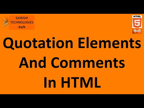HTML Quotations And Comments