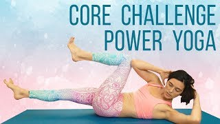 Slim Waist ♥ Strong Core   Power Yoga Challenge with Julia Marie, 20 Min Workout for Abs & Obliques