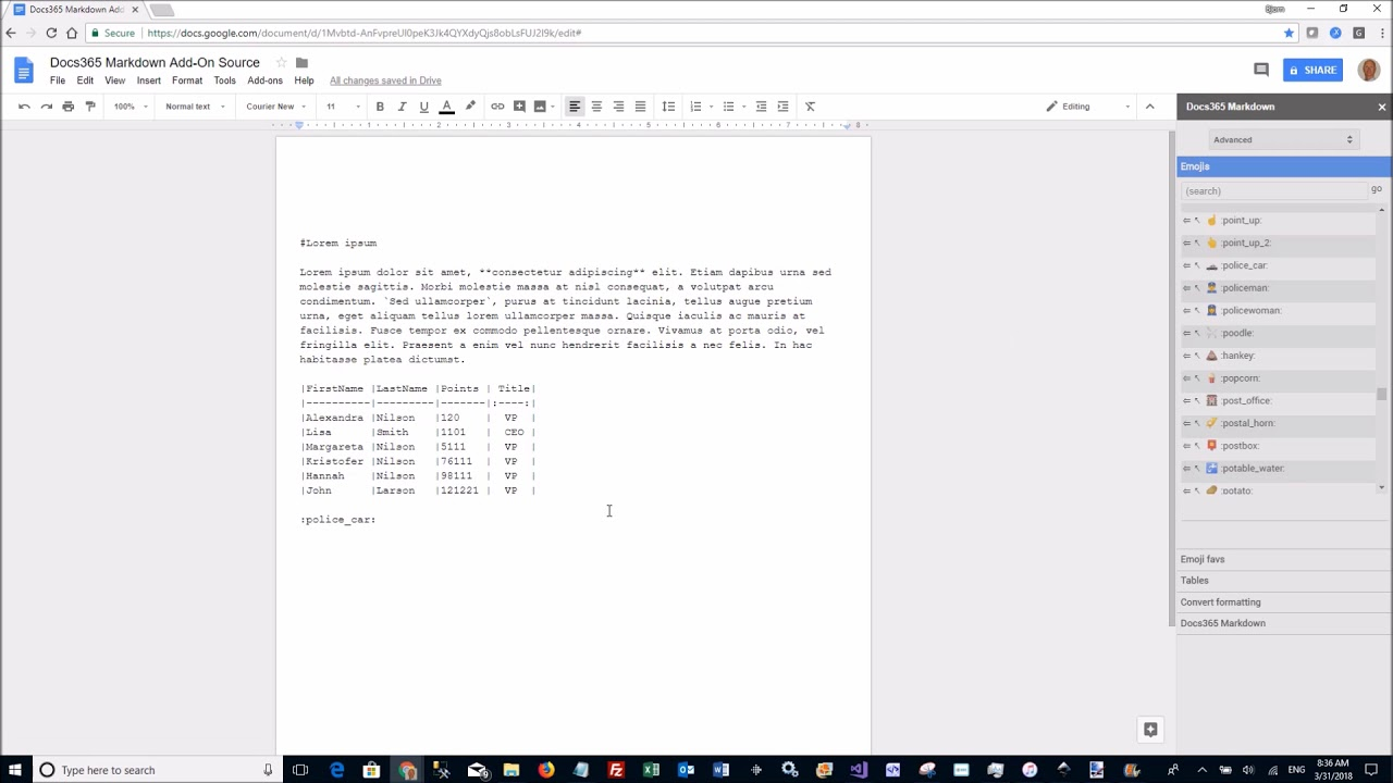 Docs365 Markdown - markdown authoring with Google Docs - YouTube