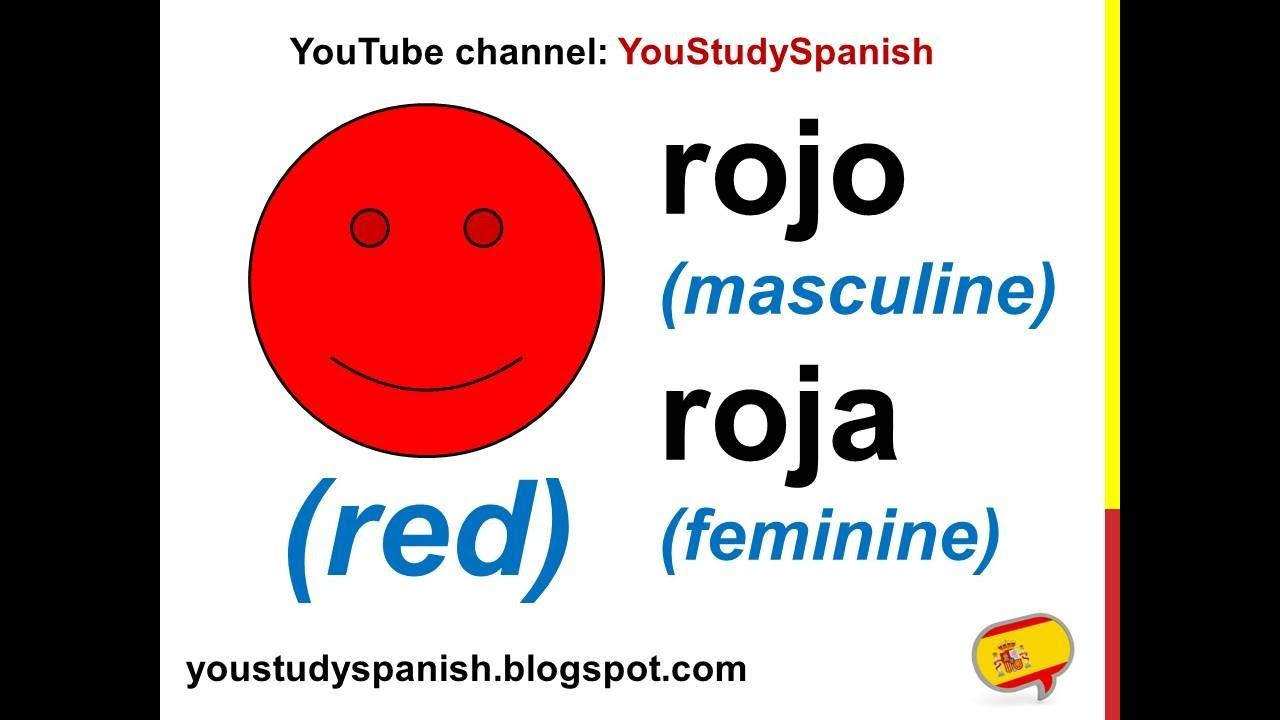 spanish lesson 3 colors in spanish masculine feminine for kids