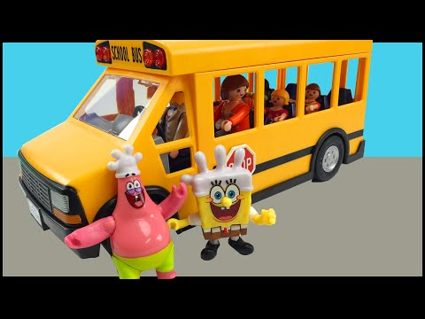 Wheels On The Bus Go Round and Round Nursery Rhyme Spongebob Squarepants Imaginext Glove World Toys