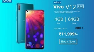 Vivo V12 Pro CONFIRMED - 50MP Camera With 5G Network, Price, features & Launch Date