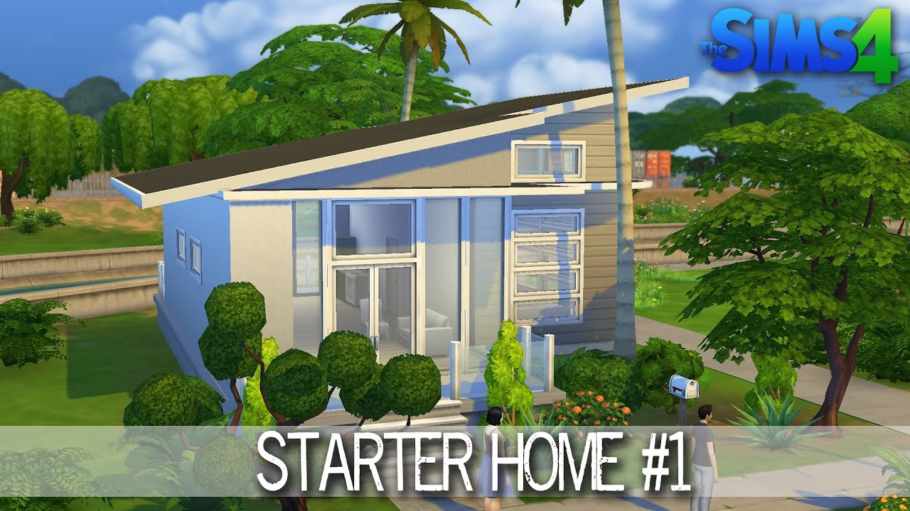 The Sims 4 House Building Starter Home 1 Speed Build Youtube - sims 4 house design