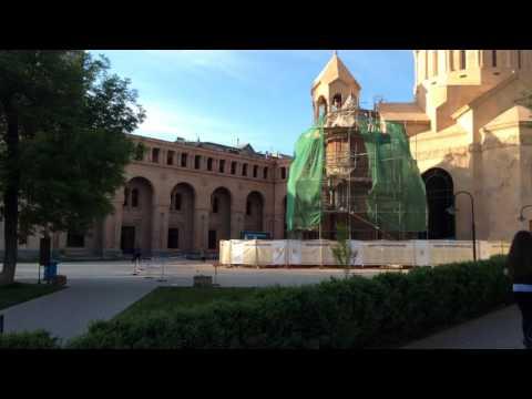 Yerevan, 24.04.16, Su, Video-1, церковь Св.Анны - Лебединое озеро