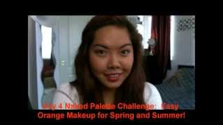 Easy Orange Makeup for Spring and Summer! Day 4 Naked Palette Challenge Thumbnail