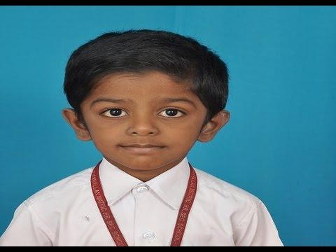 First Standard English Tamil Recitation R  Kamakshimithran