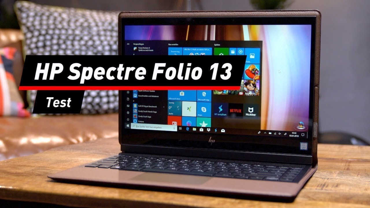 Ganz in Leder: Notebook HP Spectre Folio 13 im Test