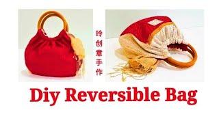 Diy Reversible bag ~with 2 zipper | Sewing Art#HandyMum ❤❤