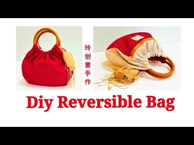 Diy Reversible bag ~with 2 zipper | Sewing ArtHandyMum ❤❤