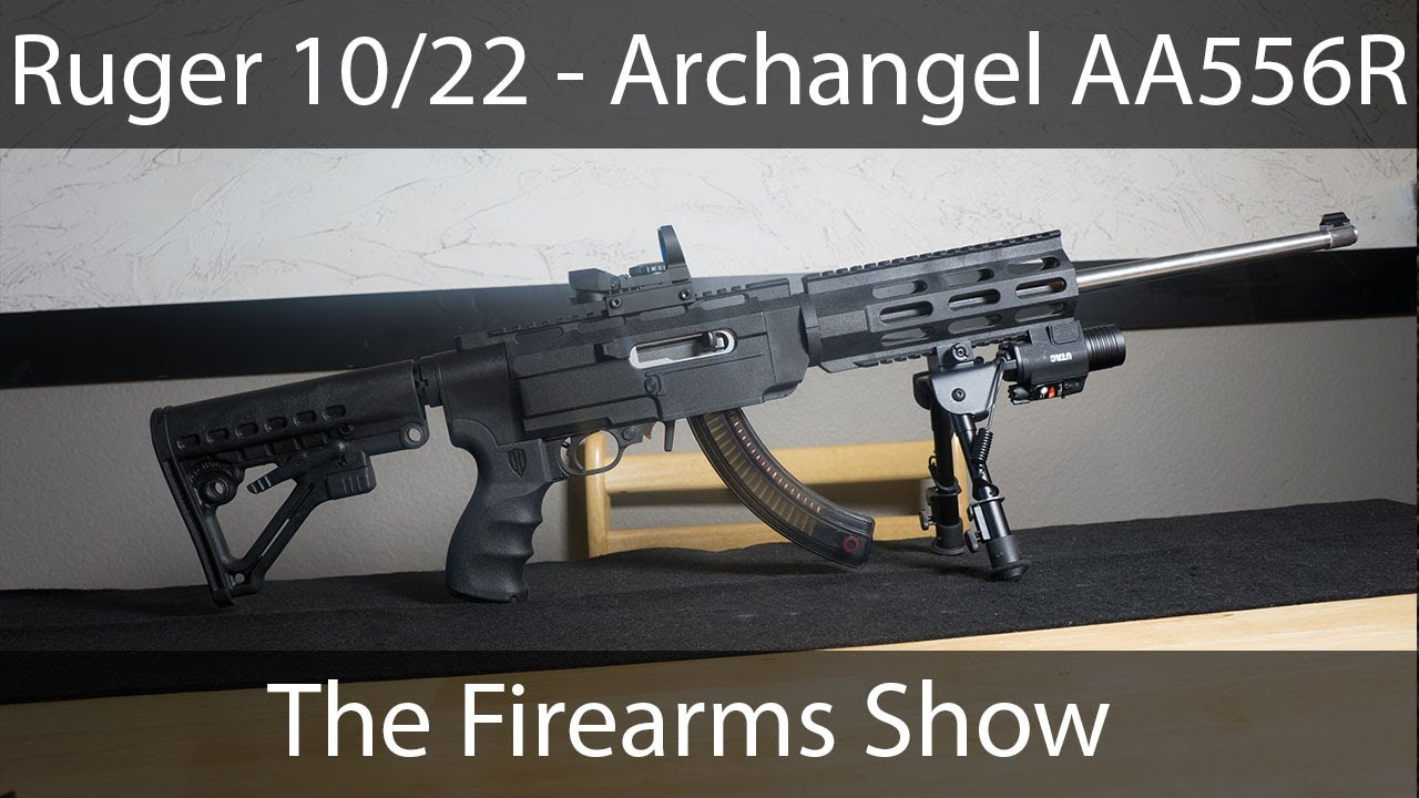 ultimate assault rifle ruger 10 22 archangel aa556r youtube