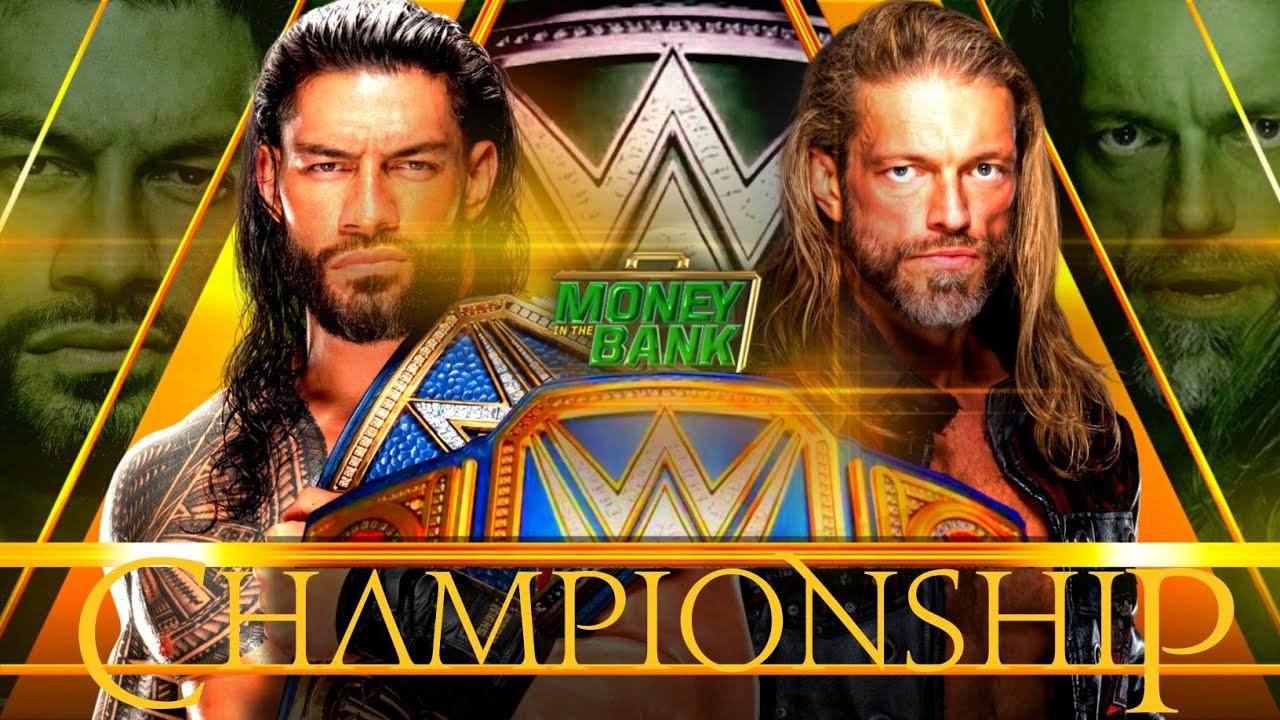 Roman Reigns Vs Edge Money In The Bank 2021 Custom Match Card V3 | WWE Money In The Bank 2021 ...
