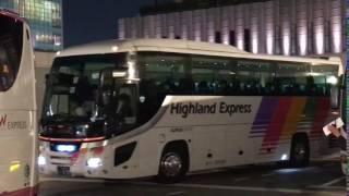 バスタ新宿にて。(アルピコハイランドバス)