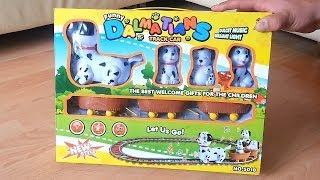 Kids Track Car Toy Opening Funny Dalmatians Train For Kids Gift