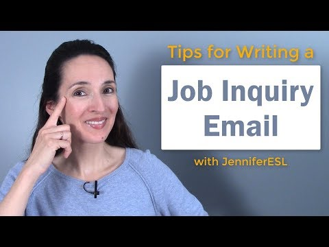 How To Write A Job Inquiry Email 💻👩💼 Tips For Job Searches 📱👨💼
