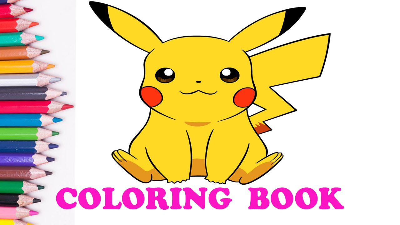 pokemon coloring book and learn colors pikachu coloring pages