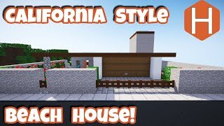California Style Ocean Front Cliff House -Minecraft Tutorial