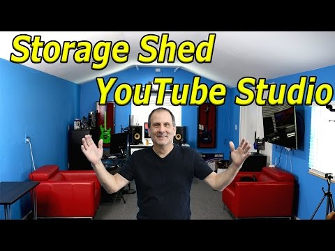 Best Youtube Studio From a Storage Shed! Remodel and Transformation