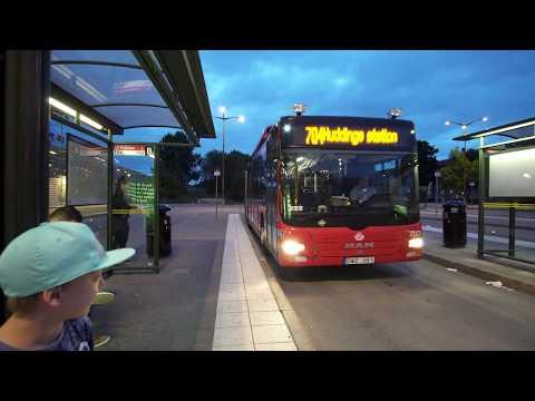 Sweden, Stockholm, ride with bus 704 from Fruängen subway station to Prostvägen