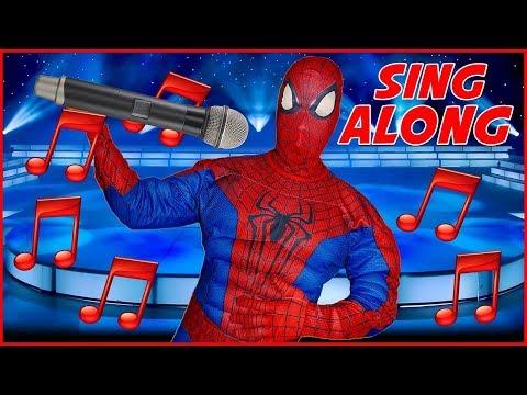 Spiderman Sing Along Songs with Lyrics For Kids Karaoke Children Songs Nursery Rhymes