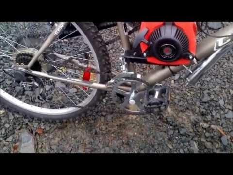49cc 4stroke Gas assisted bicycle - YouTube