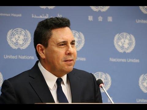 Samuel Moncada desde la ONU denuncia asedio a embajada de Venezuela en Washington