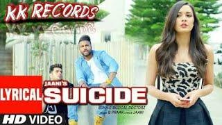 Suicide Full Cover Video Song Punjabi Song Sukhi - KK Royal Records