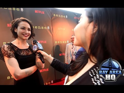 Hilarious Tuppence Middleton Interview! Sense8 San Francisco Premiere