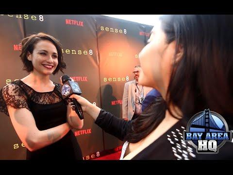 Hilarious Tuppence Middleton ! Sense8 San Francisco Premiere