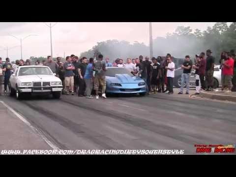 STREET RACE: G-BODY vs CAMARO at Da Pad