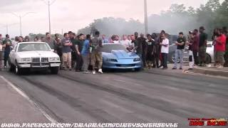 STREET RACE: G-BODY vs CAMARO at Da Pad