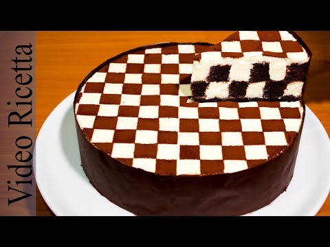 Torta a Scacchi - Chess Cake (con biscotti Oreo) - Video Ricetta