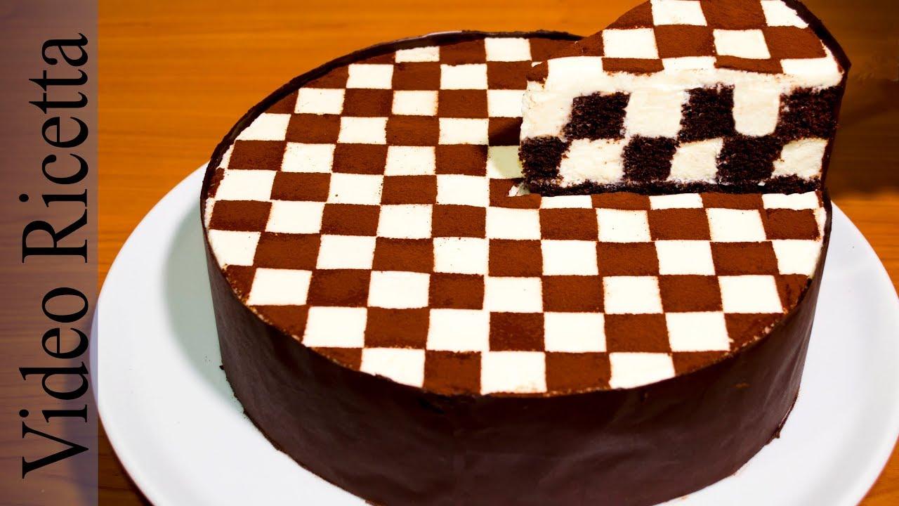 Torta a Scacchi  Chess Cake con biscotti Oreo  Video