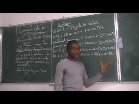 COMMENT CALCULER L'IRPP AU CAMEROUN SUIVANT LA LOI DE FINANCE 2019