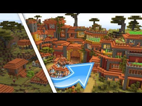 Minecraft Savanna Farm Village Transformation! | Minecraft 1.14 Village And Pillage