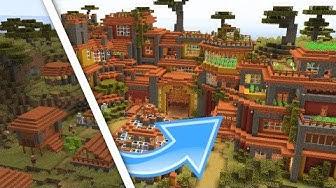 Minecraft Savanna Farm Village Transformation!   Minecraft 1.14 Village and Pillage