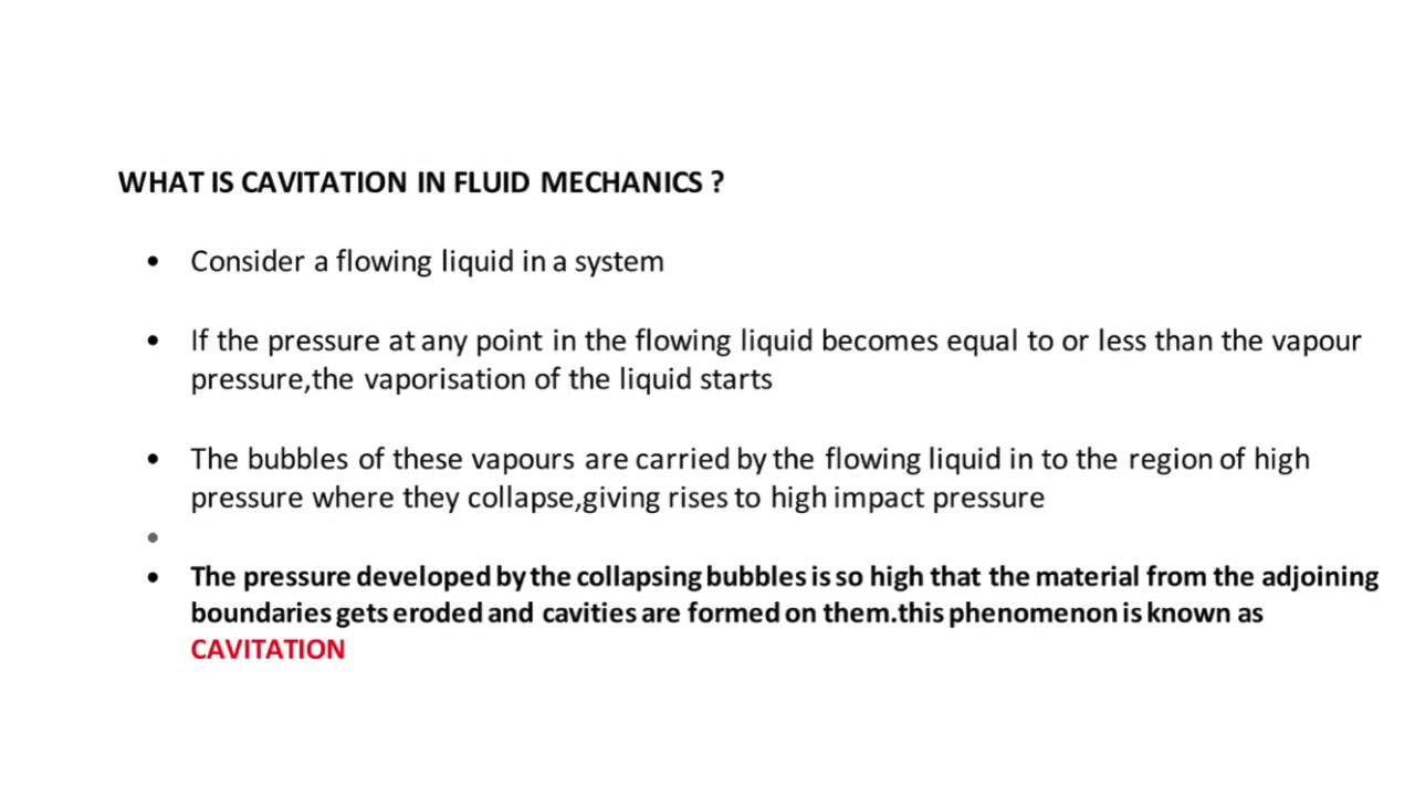 What is cavitation