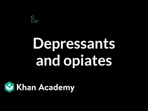 Psychoactive drugs: Depressants and opiates | Processing the Environment | MCAT | Khan Academy