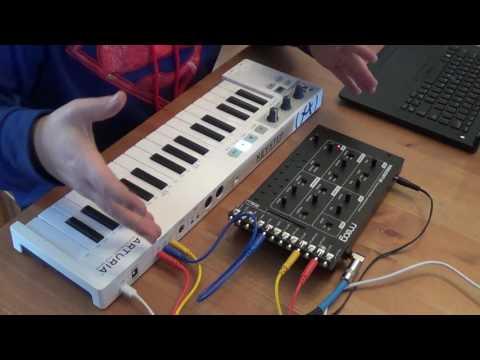Moog Werkstatt with CV expander with Arturia Keystep