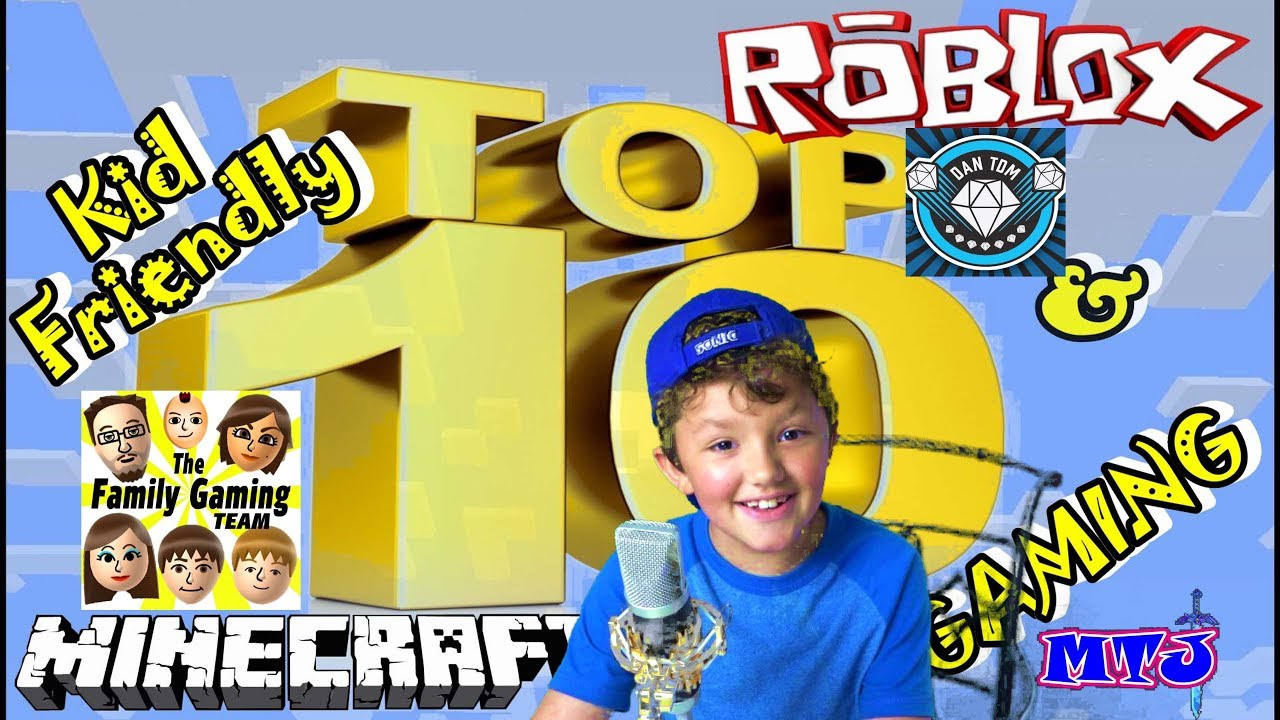 Top 10 Friendly Minecraft Roblox Gaming Youtubers With Gamer