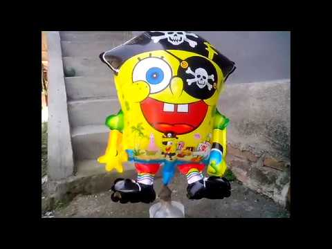 Balon Mainan Anak - Belajar Sendiri Mengisi Gas Pada Balon Karakter Spongebob: Balon Mainan Anak-anak - Belajar Sendiri Mengisi Gas Pada Balon Karakter Spongebob. Belajar Sendiri Mengisi Gas Pada Balon Karakter Spongebob.