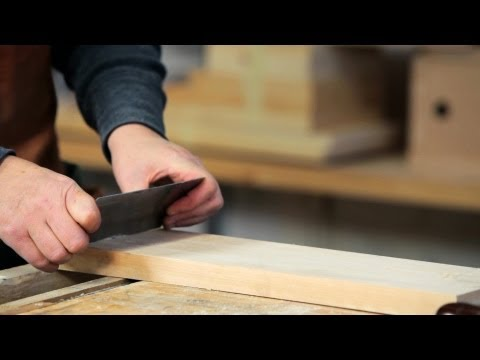 How to Use a Cabinet Scraper   Woodworking