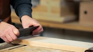 How To Use A Cabinet Scraper | Woodworking
