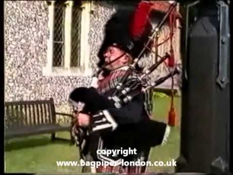 Bagpiper Playing Live At A Wedding