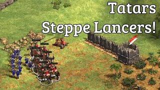 Steppe Lancers as Tatars! | vs Ethiopians | 1v1 Cenotes