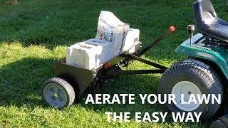 Lawn Aerator - Brinly 40 Inch Tow Behind Plug Aerator