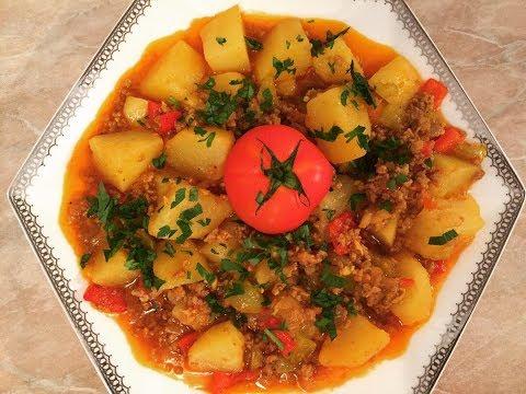 Qiyməli kartof yeməyi. Asan və dadlı yemək resepti. Kıymalı patates yemeği.