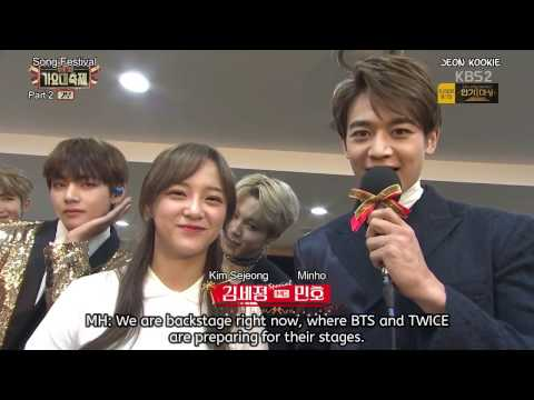 [ENG SUB] BTS & TWICE Interview at 2016 KBS Song Festival (161229)