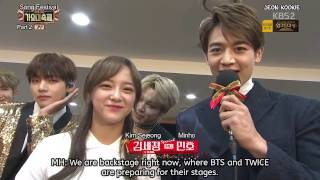 Video [ENG SUB] BTS & TWICE Interview at 2016 KBS Song Festival (161229) download MP3, 3GP, MP4, WEBM, AVI, FLV Januari 2018